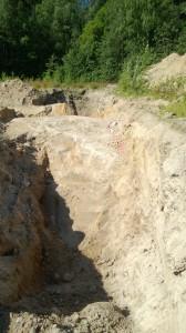 tien, veden ja viemärin paikata löytyi kalliota.
